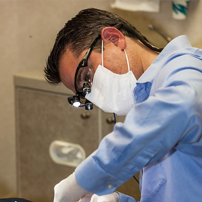 Grass Valley General Dentistry - Dr. Brott working on Mercury-free Fillings