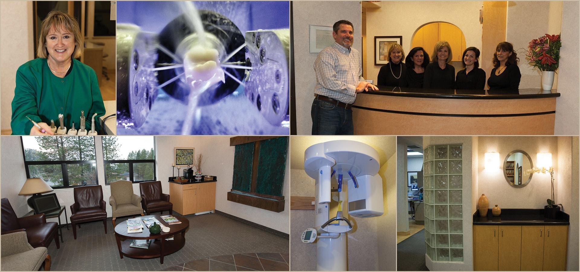 grass valley dental team office collage min